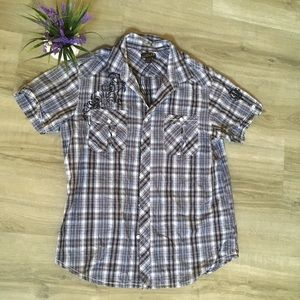 Helix x large button up shirt